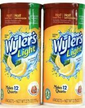 2 Wyler's 2.75 Oz Light Half Ice Tea Half Lemonade 6 Ct Drink Mix Pitche... - $20.99