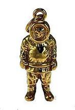 NICE 3D Eskimo Gold plated over silver charm Alaska Siberia - $19.11