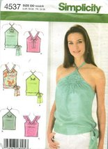 Simplicity Pattern 4537 ~ Misses' Summer Tops ~ Sizes 4-6-8-10 - $13.72