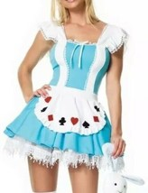 Leg Avenue Sexy Alice In Wonderland Costume Dress Size M - $12.57