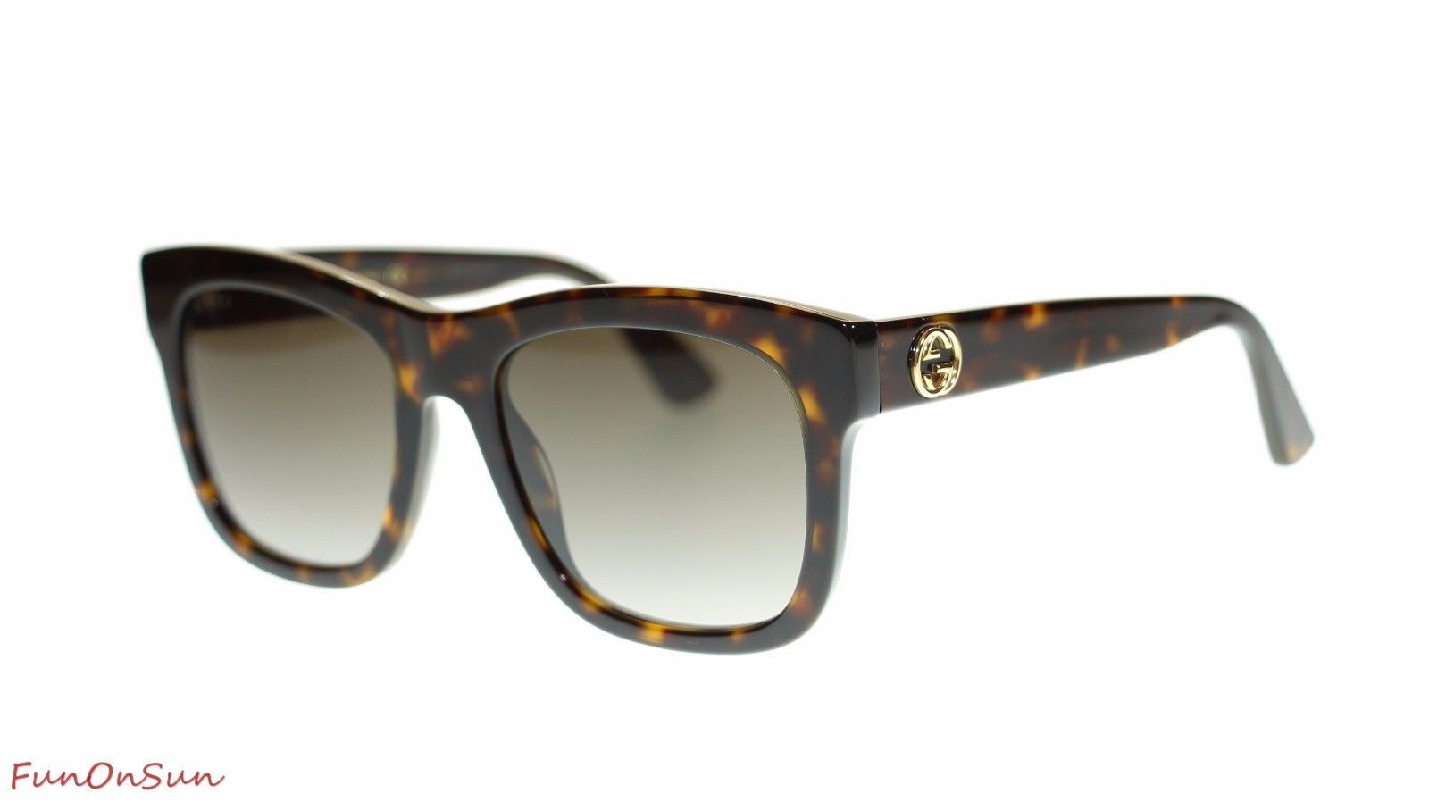 7e1b3bd219 S l1600. S l1600. Previous. Gucci Women Rectangular Sunglasses GG0032S 002  Havana Brown Lens 54mm Authentic