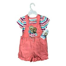 DISNEY JUMPER 2 PIECES SET 2T-4T (3T, PEACH FROZEN) - $18.61