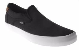 WeSC Men's Black Luiz Canvas Slip On Fashion Sneaker Skate Shoes B205927999 NIB