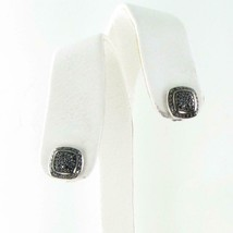 David Yurman Albion Earrings 11mm Pave Black Diamond 0.47cts Sterling Studs - $824.50