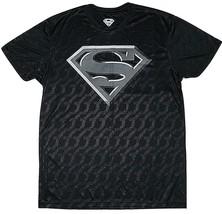 Superman Steel Logo DC Comics Mens New Licensed Adult Poly T Shirt M - $16.88