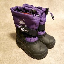 Kamik Girls Rocket L1-11-34 Sz 8Y Purple Insulated Winter Snow Boots - $34.99