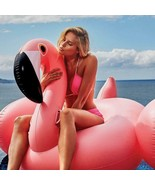 Inflatable Flamingo Swimming Pink Ride-On Ring Adults Children  150CM - $53.78