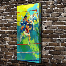 """Leroy Neiman """"Boxing Match"""" HD Canvas Print large wall picture 48x24"""" - $48.51"""