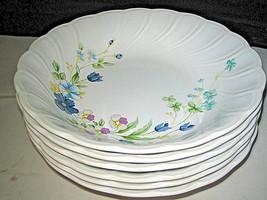 """NIKKO Blue tulip Soup bowls 7 1/8""""  6-pc Lot - $29.99"""