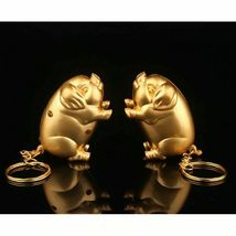 Gas Lighter Metal Gold Pig Model Inflated Butane Cigarette Fire Mini Creative image 6