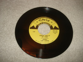 Jerry Lee Lewis Great balls of fire/Whole lot of shakin goin on 45 Recor... - £39.73 GBP