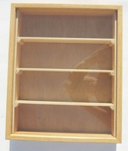 Mini Display Case Wood Plexiglass with Small Shelves Nick Nack Conventions - $29.60