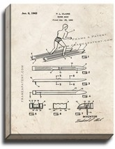 Water Skis Patent Print Old Look on Canvas - $39.95+
