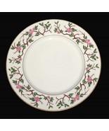 """6 Franciscan WOODSIDE Pink Floral Vine Gold Trim 10.5"""" Dinner Plates California - $72.99"""