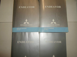 2005 MITSUBISHI ENDEAVOR Service Shop Repair Manual 4 VOLUME SET WORN FA... - $188.09