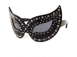 AGENT PROVOCATEUR x LINDA FARROW Disguise Me Black Silver Mask JAPAN - New! - $199.95
