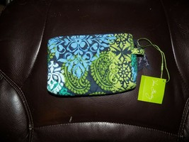 Vera Bradley Small Cosmetic Case Bag Caribb EAN Sea New - $32.00