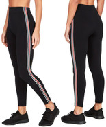 Ladies Contrast Side 2 Stripe Leggings Womens Stretch Fit Long Yoga Pant... - $10.16