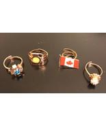 Vintage Ring(lot Of 4) Madefrom Hong Kong - $9.50