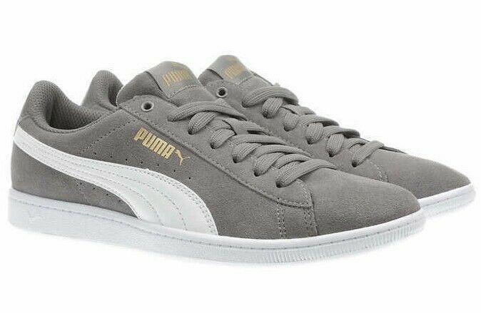 Nuevo Puma Mujer Ante Vikky Gris Tenis Gimnasio Zapatos Zapatillas