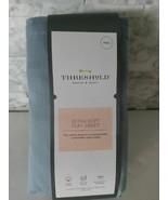 Threshold Ultra Soft Full Flat Sheet Indigo Blue 100% Cotton - $16.82