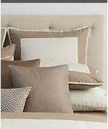 1 Oake Constructed Border Collection EURO Pillow Sham LINEN BEIGE New - £14.39 GBP