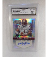 2015 Prism Draft Picks #226 MyCole Pruitt Auto Rookie GMA Graded Gem 10 - $9.85