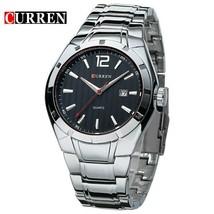 CURREN Luxury Brand Watches Men Full Steel Strap Analog Date Men's Quartz Watch - $30.42