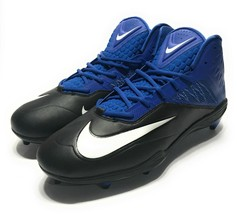 Nike Zoom Code Elite 3/4 Shark Football Cleats Black Blue 603369-004 Siz... - $23.75