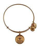 Alex and Ani Bracelet U.S. Army Charms Gold NEW - $37.62