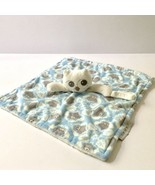Blankets and Beyond Owl Security Blanket Lovey Blue Gray Pacifier Holder... - $9.89