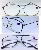 Large Black Metal Frame Aviator No Line Full Clear Lens Reading Glasses ... - $6.95