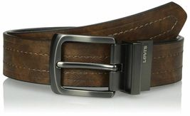 NEW Levi's Men's 38MM Premium Classic Stylish Reversible Leather Belt 11LV2223 image 3