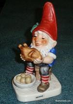 Goebel Co-Boy Gnome George The Gourmet Thanksgiving Turkey Chicken Figurine - $48.49