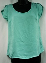 GUESS Mint Colored Blouse Top Petal Sleeves Open Back Size XS - $7.46