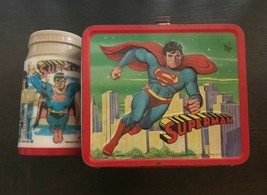 Vintage Metal Superman Lunch Box 1978 with Thermos - $75.73
