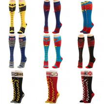 Superman Flash Batman Dc Comics Faux Lace Up Knee High Socks - $11.75