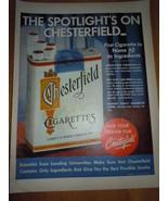 Vintage Chesterfield Cigarettes Print Magazine Advertisement  1952 - $5.99