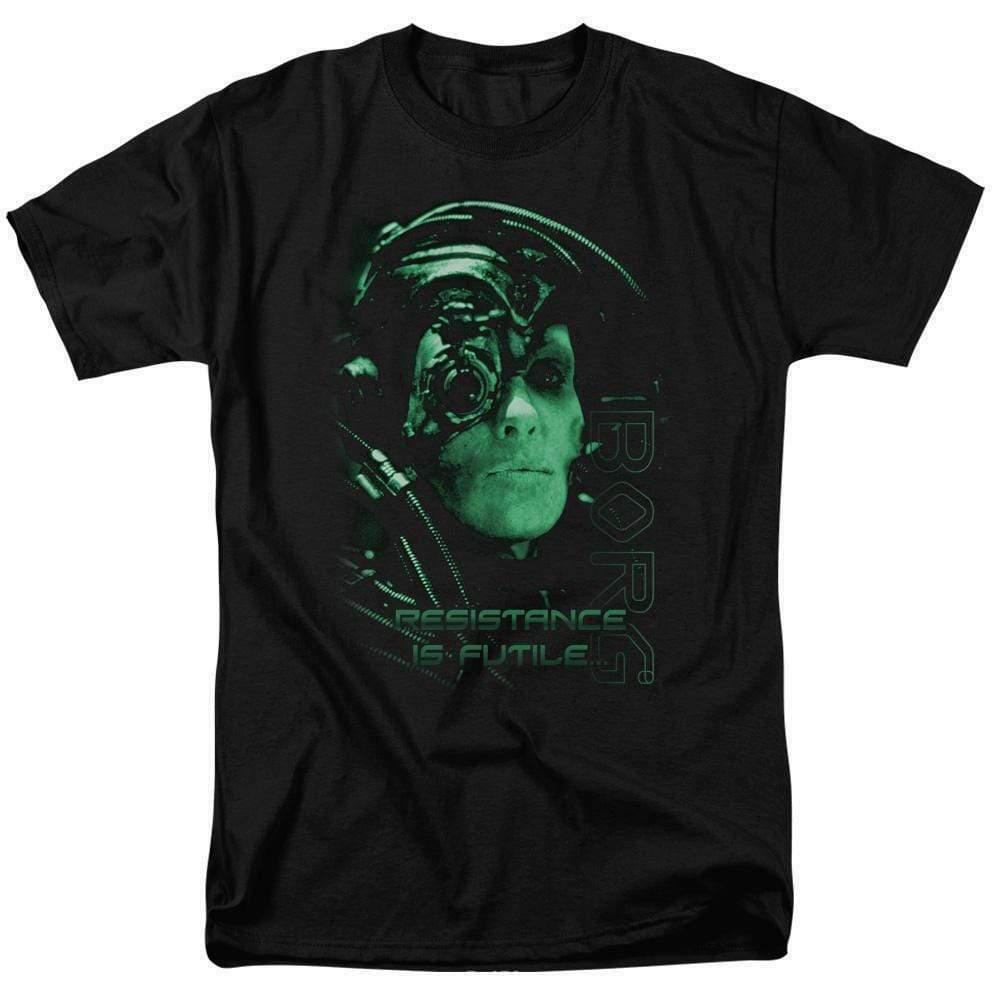 Borg t-shirt Star Trek Resistance is Futile humanoid retro sci-fi series CBS515