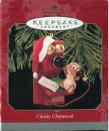 Hallmark Keepsake Ornament Chatty Chipmunk 1998 Telephone Tree Christmas - $5.93