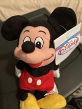 "New 1990s Disney Store Plush Beanie Soft 9"" Classic Mickey Mouse Souvenir - $9.90"