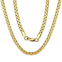 """Necklace Men Gold Chains 28"""" 18K Gold Filled Fashion Jewelry Gift - $13.21"""