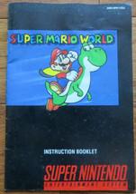 Super Mario World Super Nintendo SNES Instruction Manual Booklet ONLY  - $4.00