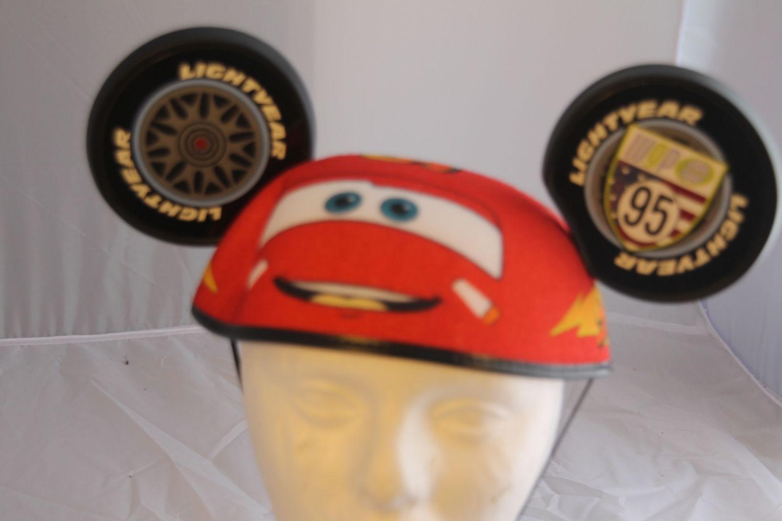 bb4148823dc37 S l1600. S l1600. Disney Theme Parks Cars Lightening Hat Mickey Mouse Ears  ...