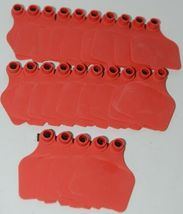 Destron Fearing DuFlex Large Panel Tags for Livestock Red Blank 25 Sets image 4