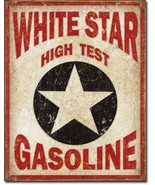 White Star Gasoline High Test Oil Metal Sign Tin New Vintage Style USA #... - $10.29