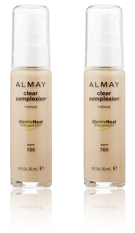 Primary image for (2-Pack) ALMAY Clear Complexion Liquid Makeup, Warm 700 - 1 fl. Oz (30 ml)