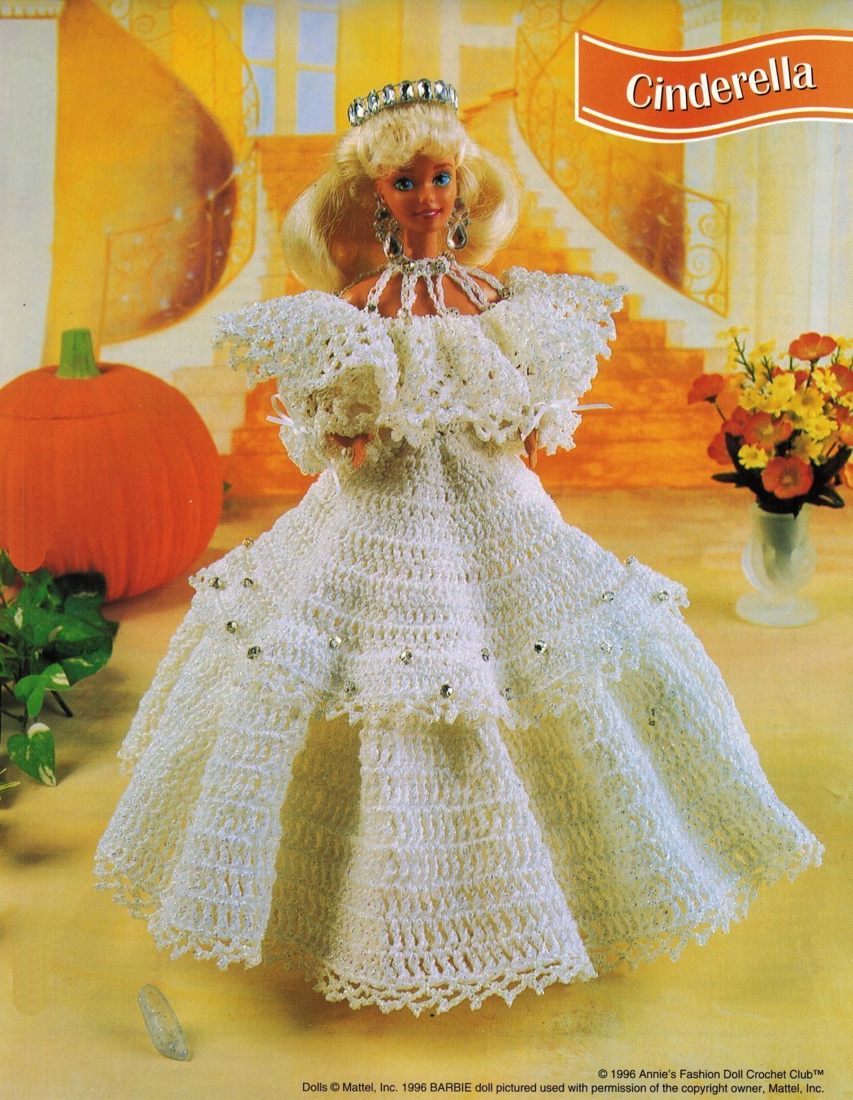 "3X Barbie 11-1/2"" Doll Angel Frills & Ruffles & Bows Trinket Box Crochet Pattern image 2"