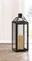 Lot of 8 Large Chic Midtown Black Candle Lantern Slanted Clear Glass Roof - $225.96