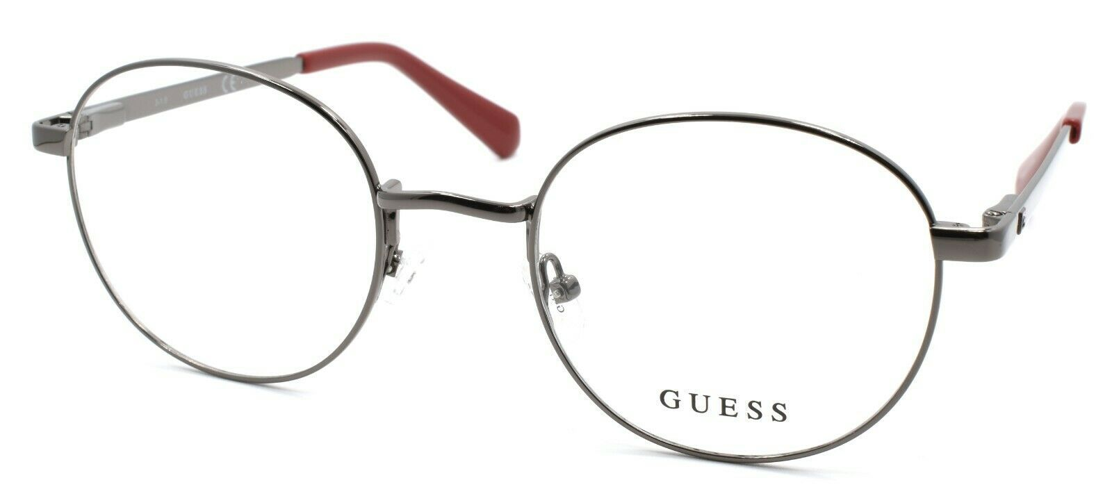 Primary image for GUESS GU1969 006 Men's Eyeglasses Frames Round 50-21-145 Shiny Dark Nickeltin